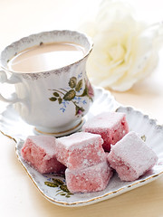 afternoon tea (bonappetit.lv) Tags: china morning pink food white flower english cup coffee rose cake vertical dessert strawberry afternoon tea drink sweet traditional beverage cream tasty plate nobody cupcake cube teatime porcelain saucer unhealthy