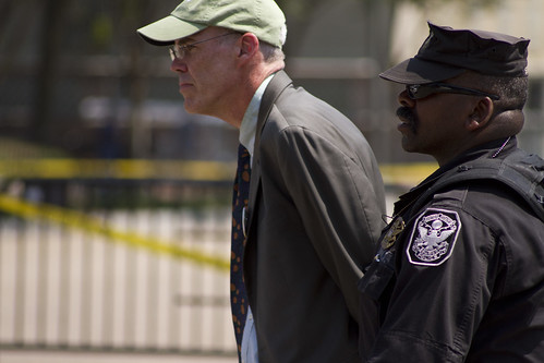 Author and environmentalist Bill McKibben arrested in Keystone XL pipeline protest in Washington DC.