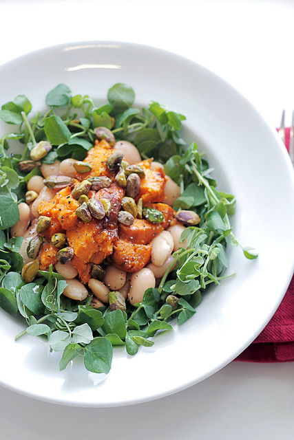 Sweet Potatoes, Butter Beans and Pistachios