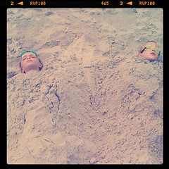 Cole and Eli in sand 2