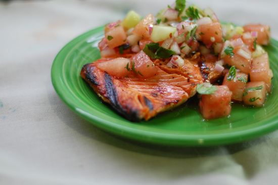 another yummy salmon dinner