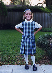 Audrey first day of kindergarten 1999