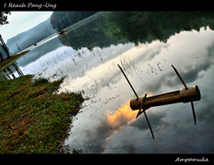 I Reach Pang-Ung /   (AmpamukA) Tags: wood travel reflection pond view north son hong thai mae agriculture ung pang pangtong