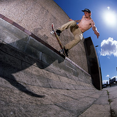 Jake Watt - 5o Stall - Liverpool (Cherryrig) Tags: 6x6 film fuji skateboarding action wizard flash slide roadtrip bronica skate epson pocket provia e6 quantum sqa t2 pw 100f sb800 sb26 v500 sb25 pocketwizard strobist qflash l358 cherryrig