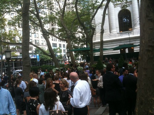 Bryant Park after the earthquake