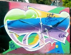 Ghetto Farceur (Voodoodi London) Tags: street streetart london art graffiti bio fans goldie ghetto cru bonzai nicer tats stockwell rems bg183 bims farceur solo1