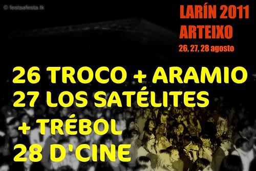 Arteixo 2011 - Festas de Larín - cartel elaboración propia