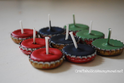 wedding diy bottle cap candles 1