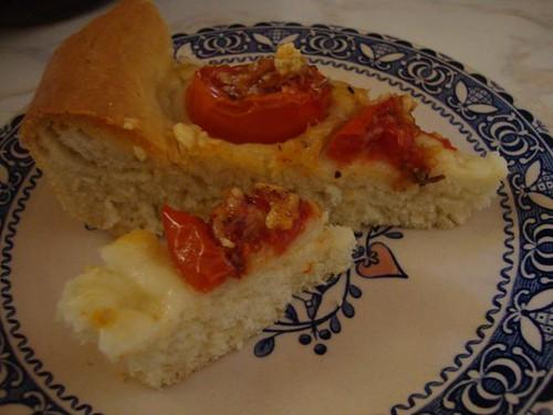 tomato tart served