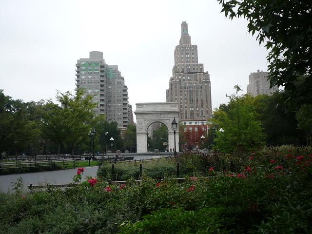 Washington Square Park, closed, hurricane