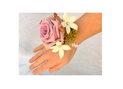WristCorsage (Vicky Spence) Tags: flowers blue wedding roses rose bury lilac bluemoon floristry stephanotis limonium dunkenhalgh