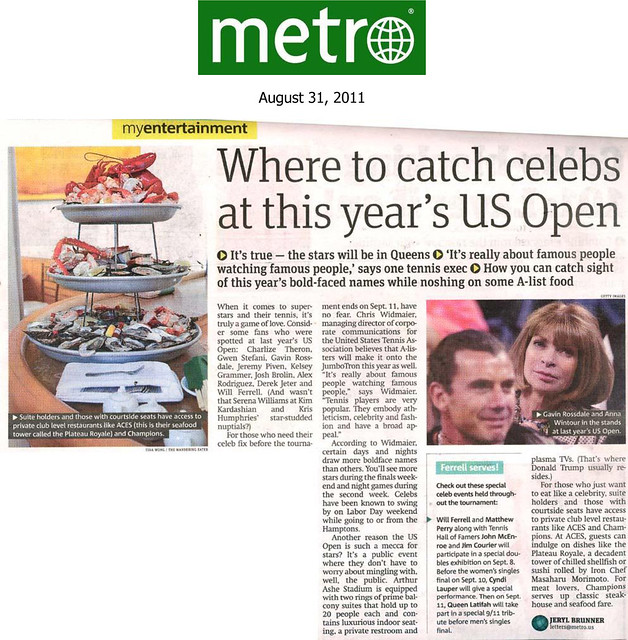 My raw seafood tower photo made it on Metro NY!