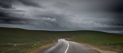 Empty road (Julio Lpez Saguar) Tags: road clouds landscape carretera empty paisaje panoramic morocco nubes marruecos vacio panormica lemaroc juliolpezsaguar
