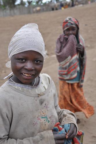 Girls near Kilimanjaro