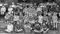 Mossley Road School 1931 (theirhistory) Tags: girl boy child kid schoolphoto classphoto shirt jumper tie shoes sandles wellies bench seated primary junior uk gb class form school pupils students education