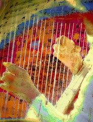 Harpist (jbrookg) Tags: musician music color angel hands colorful orchestra instrument classical harp impressionist harpist melodic