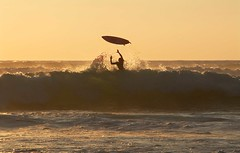 Can't Reach! (Annemarie Hughes) Tags: sunset surf surfer surfing surfboard sunsetsurf jackhughes lesbourdaines