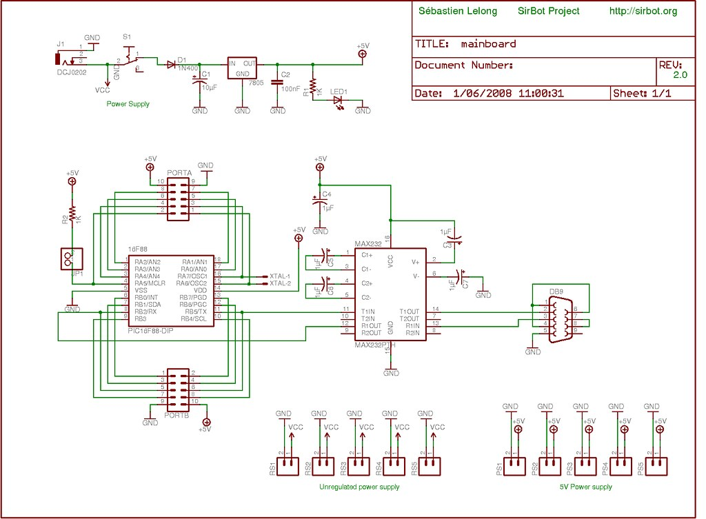SirLoon · Designing the mainboard, using Eagle