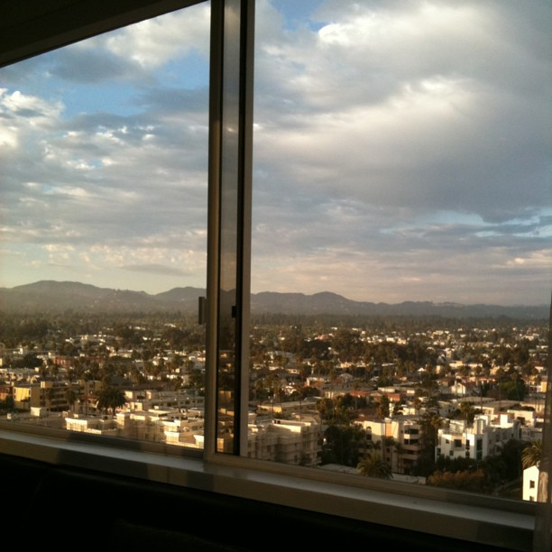 Mountain view from The Penthouse restaurant at The Huntley in Santa Monica