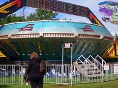 A & P Shows Gravitron Central Wisconsin State Fair. (dccradio) Tags: trees sky trooper tree grass festival wisconsin clouds fence fairgrounds ride cloudy alien lawn overcast bluesky fair ufo ap greenery spaceship wisdom countyfair dropzone wi amusements gravitron starship carnivalride thrillride marshfield paratrooper amusementride communityevent woodcounty fairride mechanicalride mechanicaldevice amusementdevice centralwisconsinstatefair apshows apenterpriseshows apcarnival wisdomrides wisdomindustries ridefence wisdommanufacturing centralwiscosnsin