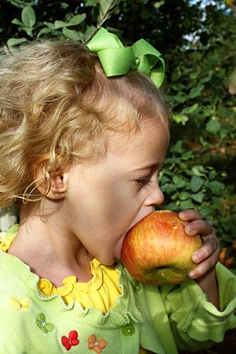 Autumn-biting-apple