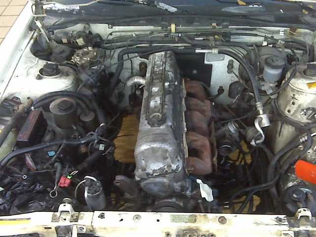 f31 build leopard or infiniti m30 l28et swap ese stock 280zx turbo turbo elbow clears steering shaft easily made quick adaptor for smaller o2 sensor required by either m30 or late z31 turbo ecu but