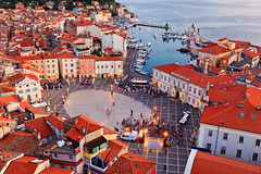 The Venetian Influence (John & Tina Reid) Tags: slovenia getty piran travelphotography pirano jonreid tinareid slovenianistria httpnomadicvisioncom sloveniansummer venetianinfluencedarchitecture thetartinisquare