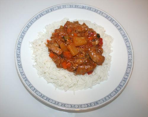 36 - Hühnchen süß-sauer / Chicken sweet-sour - Fertiges-Gericht