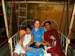 Amanda with friends in Barisal