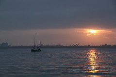 Early morning sailing from Harlingen