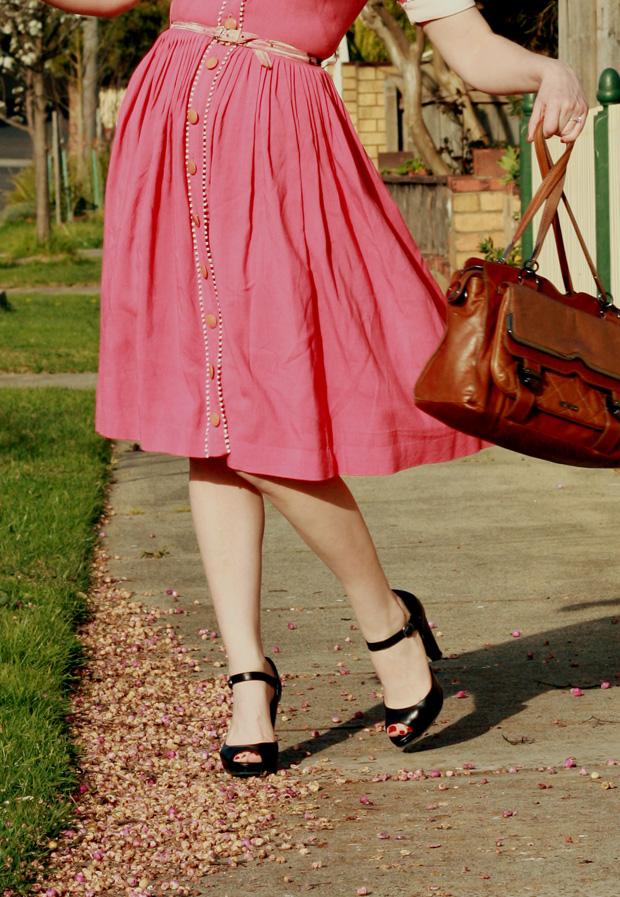 pink pom pom dress b