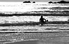 6084.2 golden Surfer B&W (eyepiphany) Tags: oregon surf surfing oregonbeaches shimmeringlight summerlife oregonsurfing oregontourism goldensurfer manzanitta smuglerscove tappingthesource goldensurf bestplacestosurf bestplacestosurfinoregon oregonbeachtowns manzanittaoregon