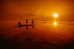 (jeridaking) Tags: sunset sea people sun water silhouette rock landscape warm mood philippines southern pools mangroves tidal visayas leyte jeridaking macrohon fortheloveofphotgraphy