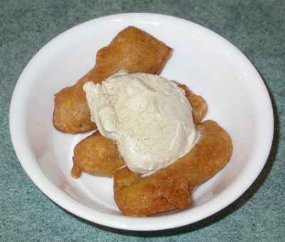 Banana Pakoras with Ice Cream