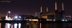 Battersea Power Station (Mattia Bicchi) Tags: london thames night canon river factory sigma noflash note fabric electricity batterseapowerstation tamigi 2470 senzaflash 40d cittcity