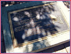 Memorial for Todd Beamer & Mark Bingham at Los Gatos High School, Los Gatos CA - photo jeannerene (jeanneren) Tags: 911 siliconvalley september11 losgatosca markbingham santaclaracountyca unitedflight93 toddbeamer losgatoshighschool jeannerenephoto losgatossaratogaunionhighschooldistrict