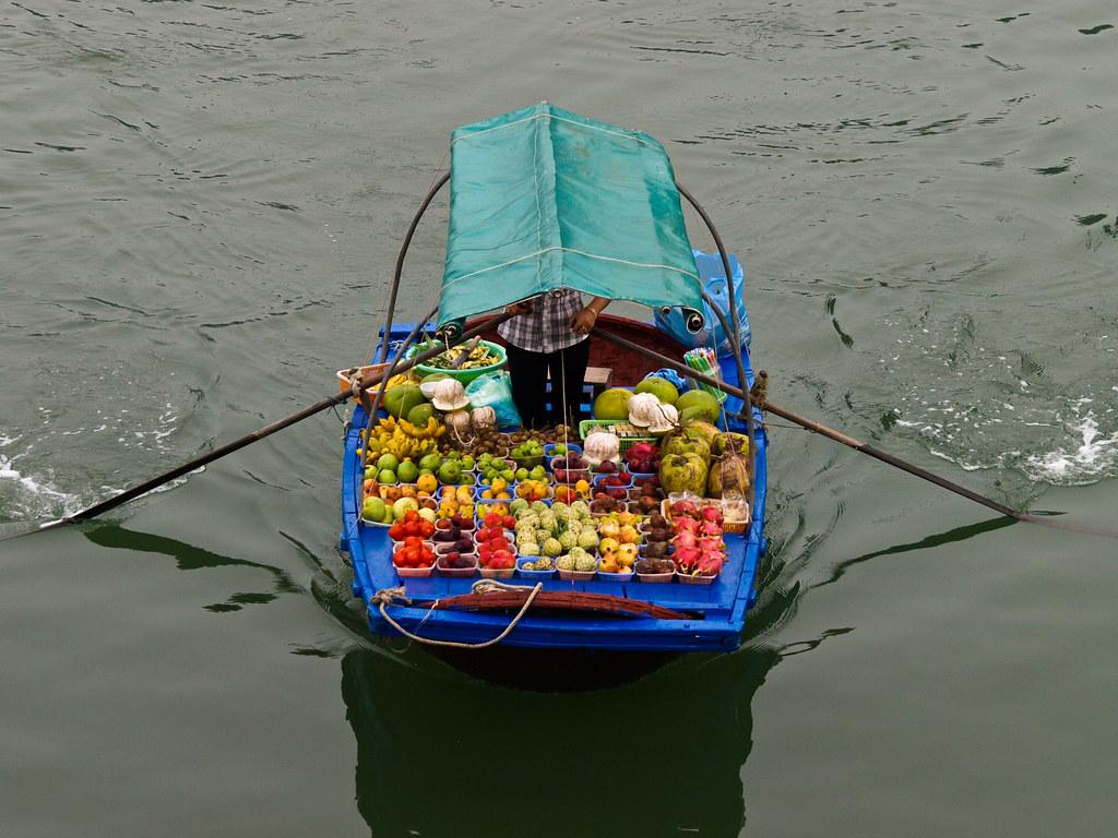 Vendedores de Ha Long