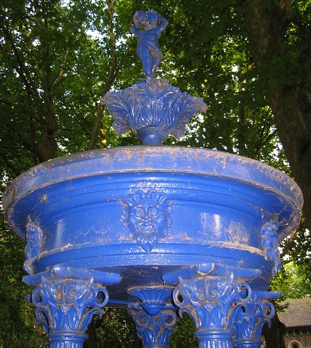 Handyside drinking fountain at St Pancras Old Church, London