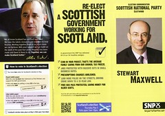 SNP Scottish Election Leaflet, 2011 (Scottish Political Archive) Tags: party west scotland election scottish msp national maxwell publicity campaign snp 2011