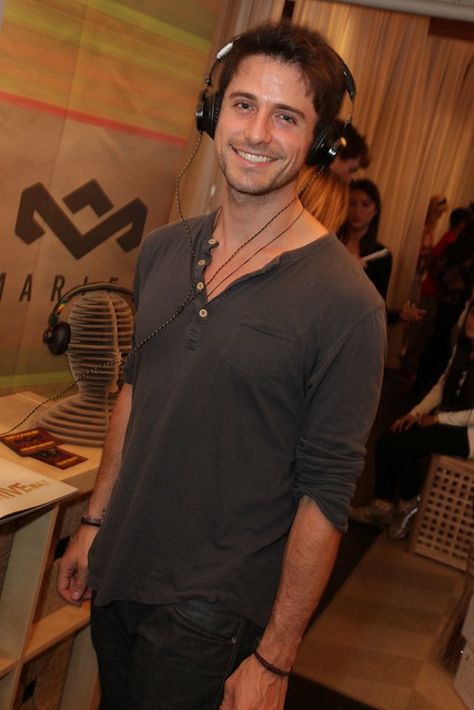 Jesse Labelle wearing House of Marley headphones