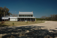 Old Rugged South (Brian Brown Photography/Vanishing Media) Tags: life usa architecture farmhouse rural landscape photo image picture southern porch dirtroad twostory antebellum iconic idyllic 2011 vanishingsouthgeorgia copyrightbrianbrown