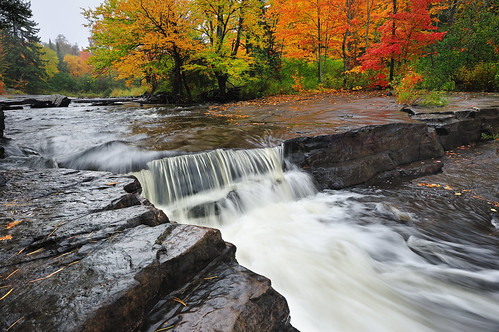 (Upper Canyon Falls) - Sturgeon River - Near L'Anse, Michigan