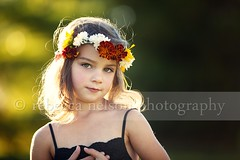 (Rebecca812) Tags: family flowers autumn portrait orange cute green fall girl beauty gold evening kid goodness child sweet innocent daughter dressup ring fairy hazel faery daisy crown backlit pure magical marigold sundress portriat endofsummer rimlighting canon5dmarkii rebecca812 gettyimagesportraits