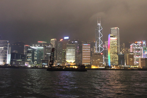 More Hong Kong (Island side) at night. by emaggie