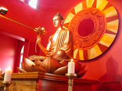 Birmingham Buddhist Centre shrine sideways on