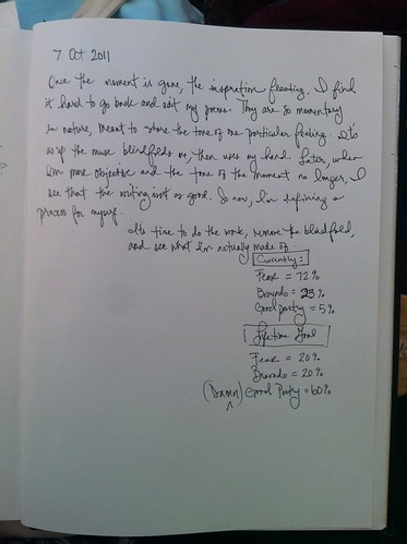 Journal Entry, 7 October 2011