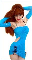 Sofia Goldberg, 1st supermodel of Ameynra dance fashion (Sofia Metal Queen) Tags: beautiful goldberg model sofia supermodel queen bluedress metalqueen sofiametalqueen sofiagoldberg