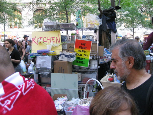 Chow line at Occupy Wall Street