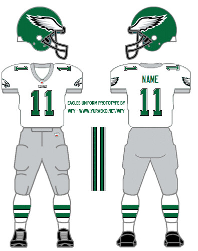 How I'd design the Eagles white uniform