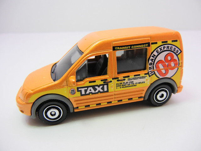matchbox ford transit connect taxi (2)